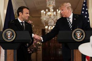 特朗普:就伊朗核協議 可能快與法國達成共識