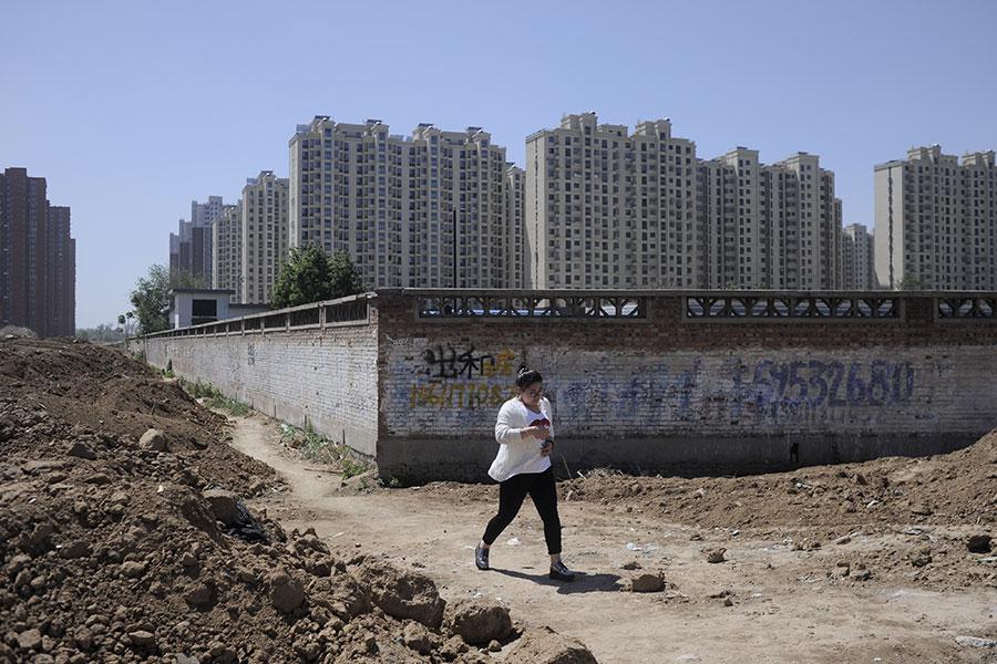 圖為北京一樓盤用地資料圖片。(AFP/Getty Images)