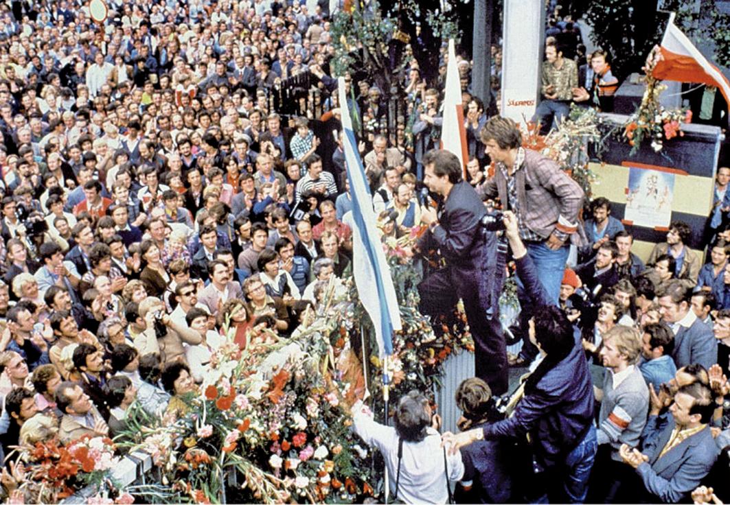 1980年9月波蘭「團結工會」成立,全波蘭有將近一千萬人,也就是全國四分之一的人口,加入了團結工會或其相關的團體。(AFP)