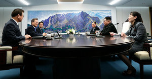 全球媒體熱播文金會 唯獨北韓官媒靜悄悄