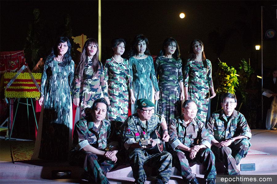 「西貢淪陷日」悼念會上的歌唱表演。(劉菲/大紀元)