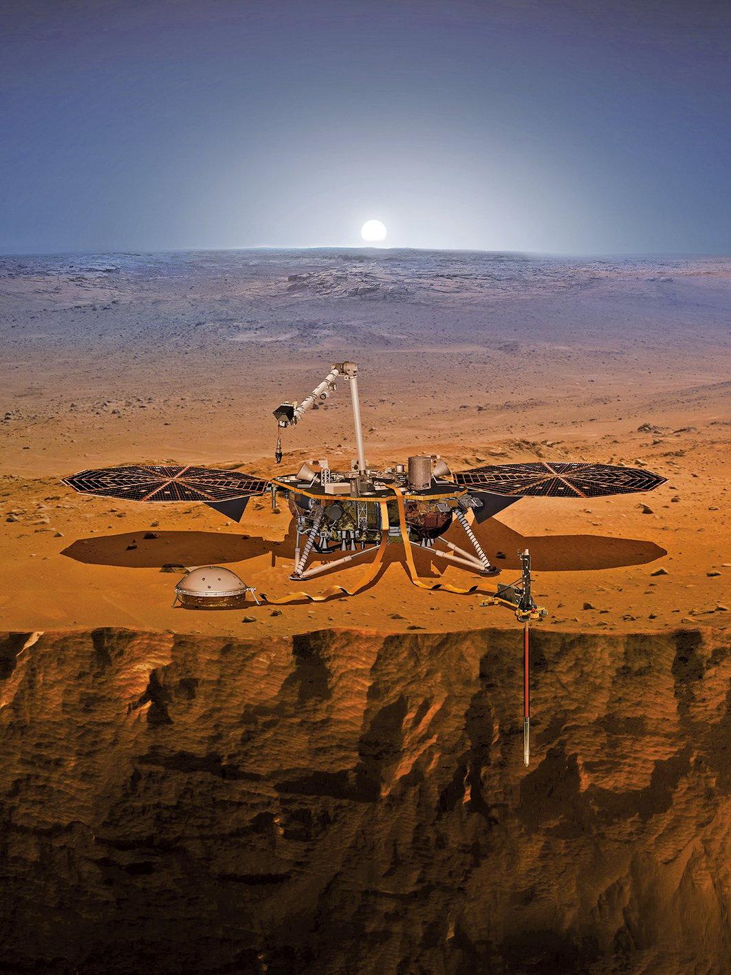 「洞察號(InSight)」火星探測器計劃於5月5日在加利福尼亞范登堡空軍基地,由一枚Atlas V 401火箭發射升空。(NASA)