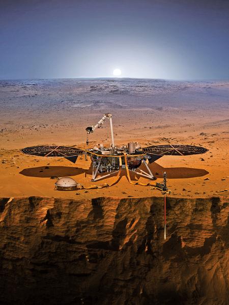 NASA洞察號5日昇空「挖掘」火星