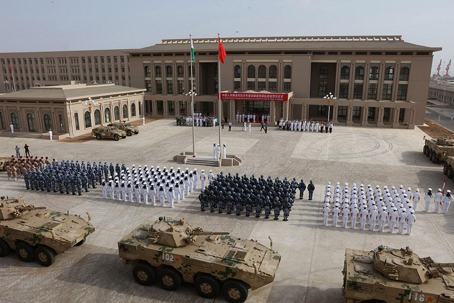 中共在2015年證實,將在吉布提建立一個軍事基地。這是中共的首個海外軍事基地,於去年8月正式開張。(STR/AFP/Getty Images)