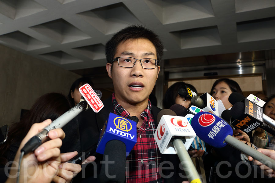 近日,有團體舉行《國歌法》本地立法公聽會,社會民主連線外務副主席黃浩銘在表達了意見。圖為資料圖片。(蔡雯文/大紀元)