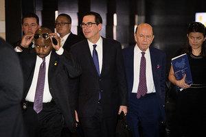 美財長宣佈中美擱置貿易戰 羅斯將再赴華