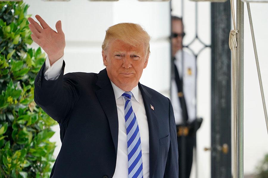 周四(5月10日),美國總統特朗普在推特上宣佈,特金會將在新加坡舉辦。(AFP PHOTO / Mandel NGAN)