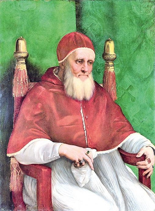 教皇朱利阿斯二世(Julius II)(公有領域)