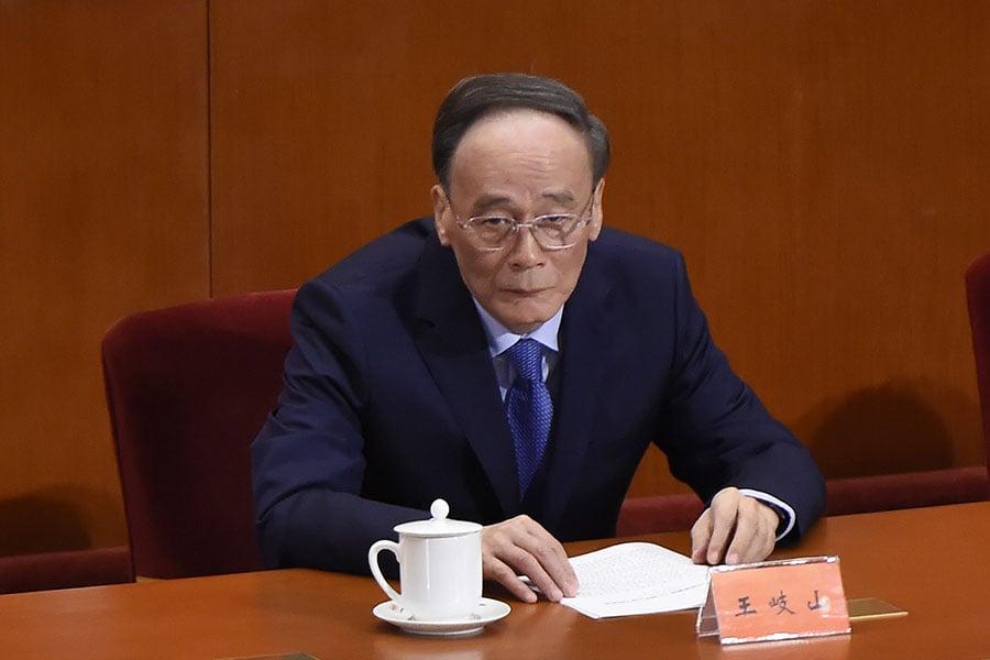 《紐約時報》5月4日報道稱,習近平可能會派遣國家副主席王岐山下月訪美。(WANG ZHAO/AFP/Getty Images)
