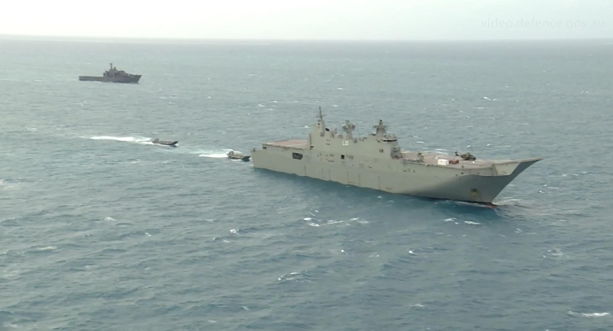 去年代號為「印度-太平洋奮進2017」的澳洲海軍演習畫面。(澳洲海軍)