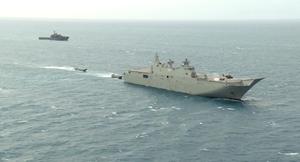 美陸戰隊登上澳洲軍艦 聯合軍演針對中共