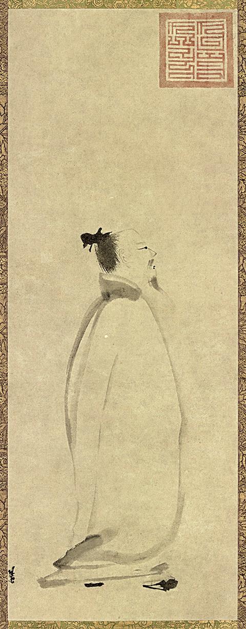 南宋梁楷作《太白行吟圖》,現藏於日本東京國立博物館(公有領域)