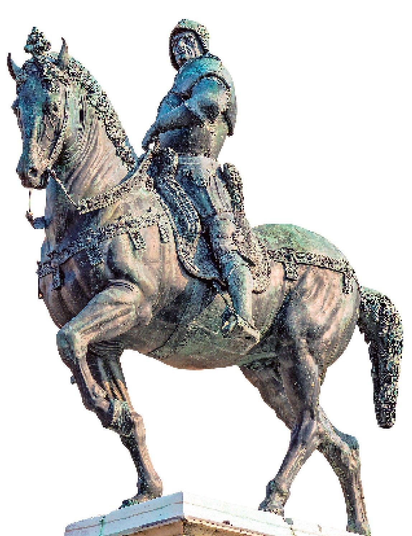 畫家與雕刻家維洛齊歐為威尼斯製作的柯利奧尼(Bartolomes Colleoni)紀念像。 (Didier Descouens/Wikimedia Commons)