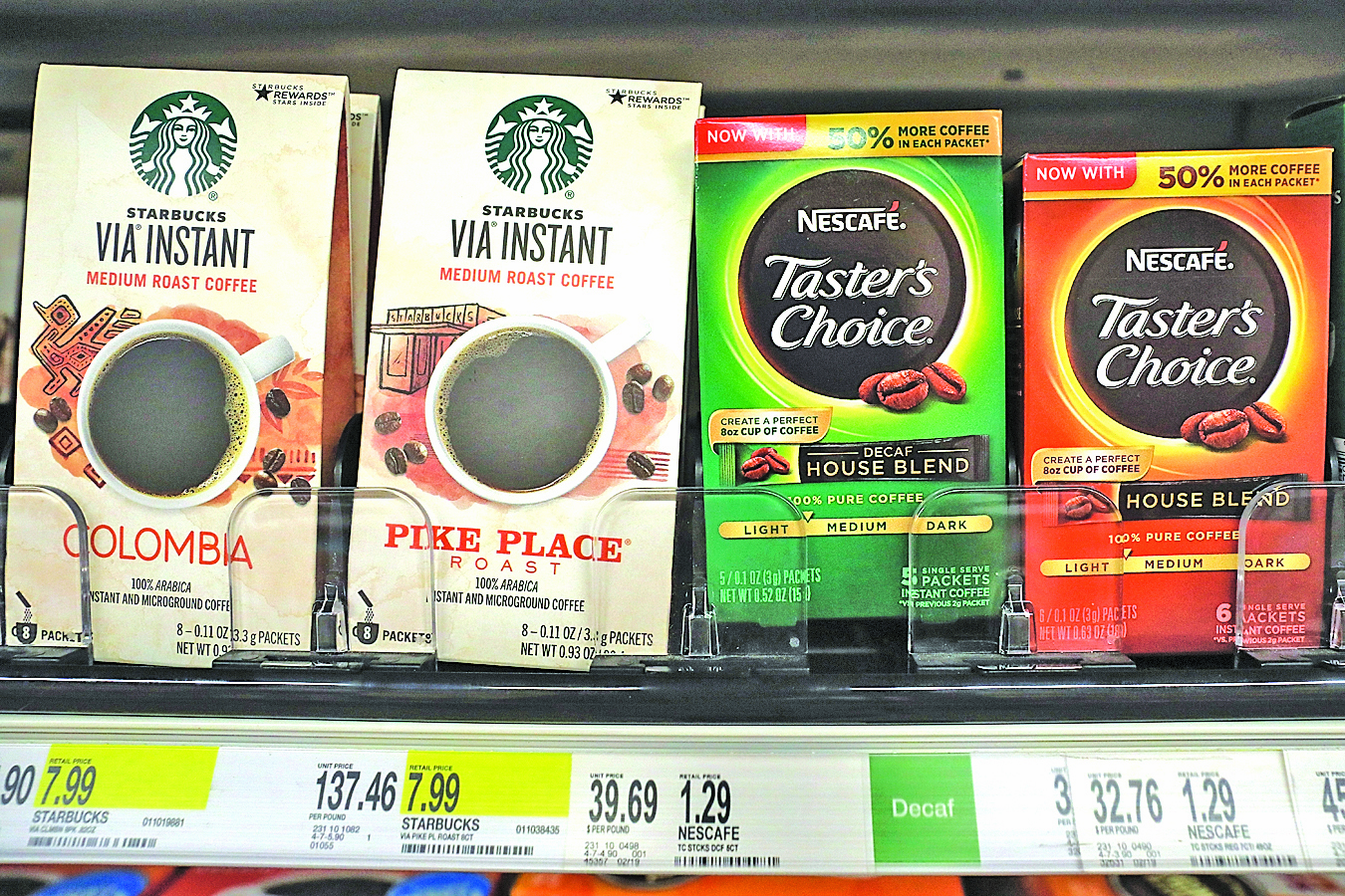 有分析稱,雀巢斥巨資結盟星巴克是因需要擴張美國市場,並有助雀巢鞏固其全球最大咖啡公司的地位。(AFP)