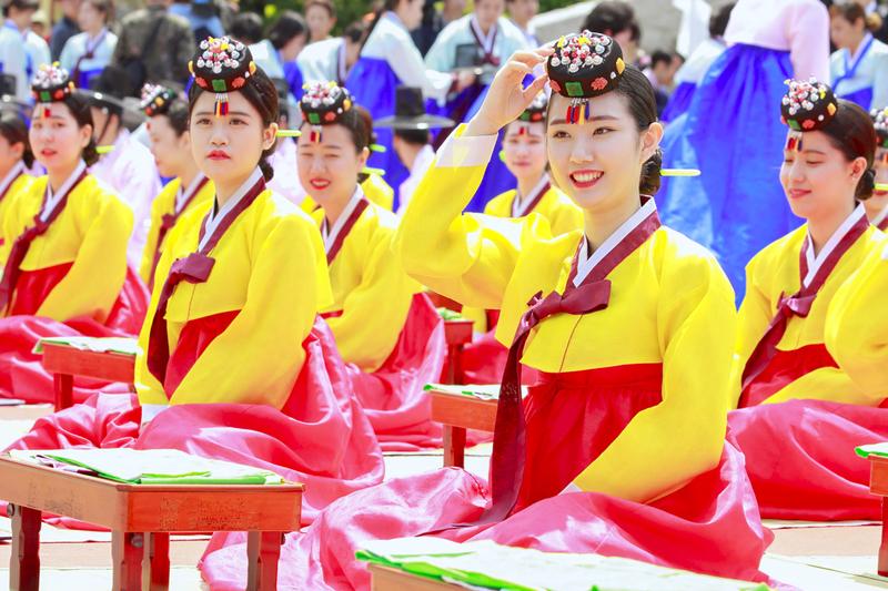 首爾南山韓屋村韓國成人節儀式