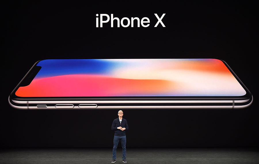 iPhone X。(JOSH EDELSON/AFP/Getty Images)