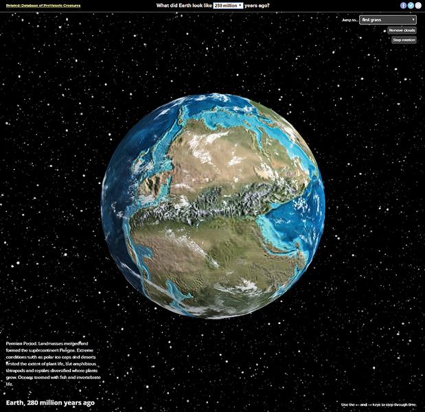 互動地圖展示地球六億年來巨變
