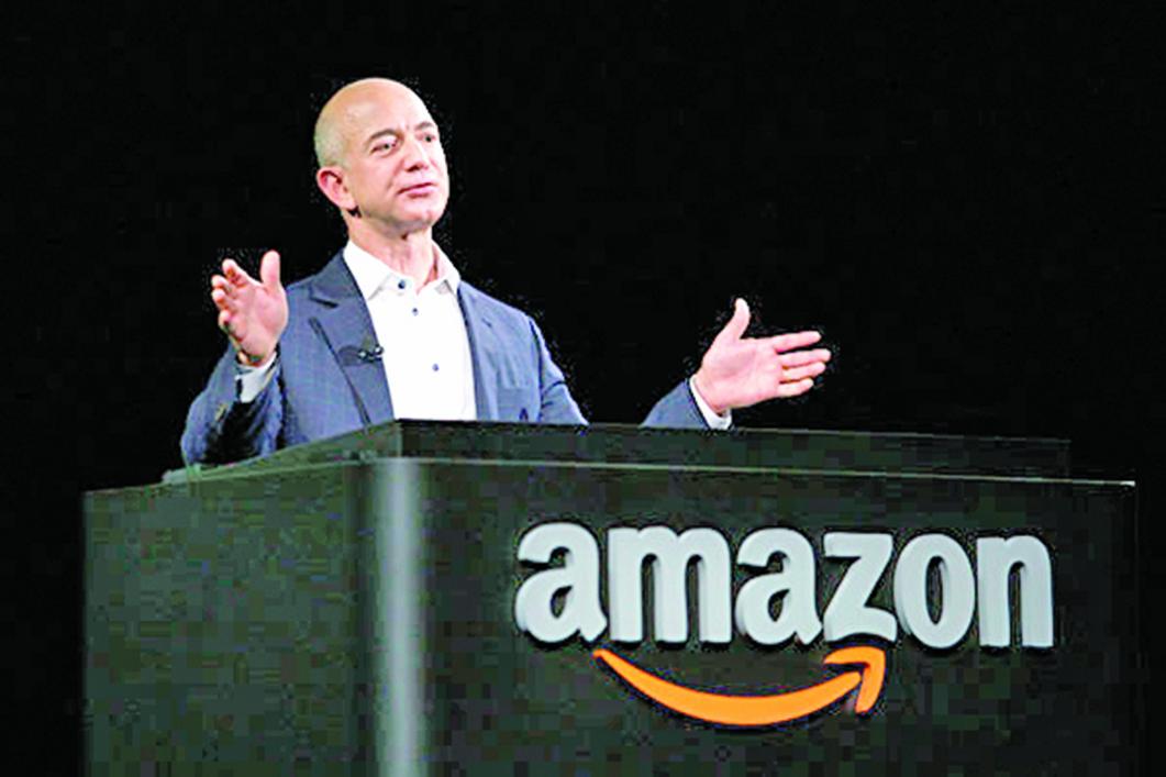 圖為亞馬遜公司的創辦人兼總裁貝佐斯 (Jeff Bezos) 。(Getty Images)