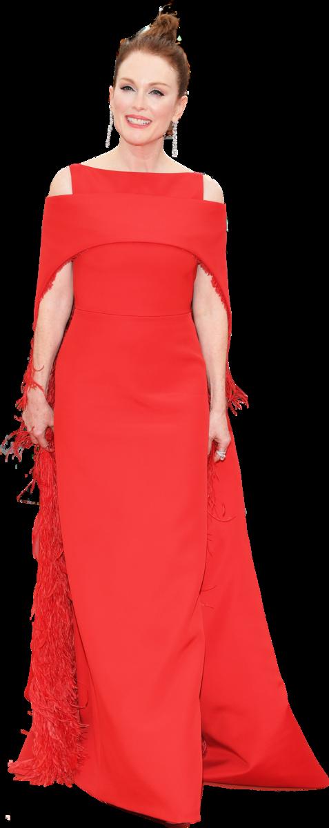奧斯卡影后茱莉安摩亞身穿紅色GIVENCHY訂製禮服現身第71屆康城影展。(Pascal Le Segretain/Getty Images)