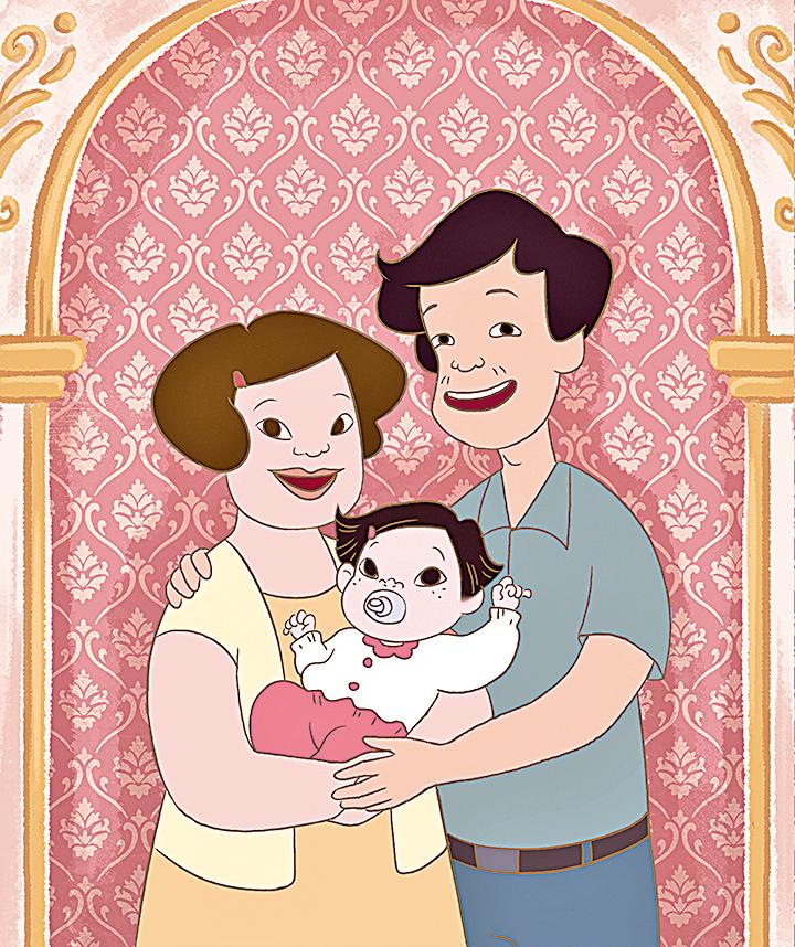 小琪幸福的一家。