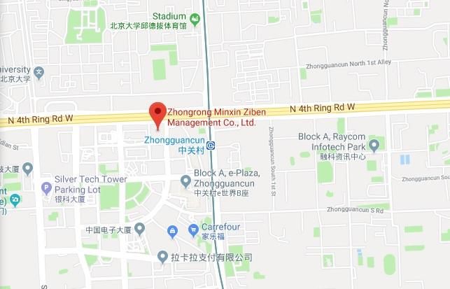 5月7日,中融民信(民信貸)北京總部被封,上海公司也被調查。圖為北京總部地址。(Google Maps)