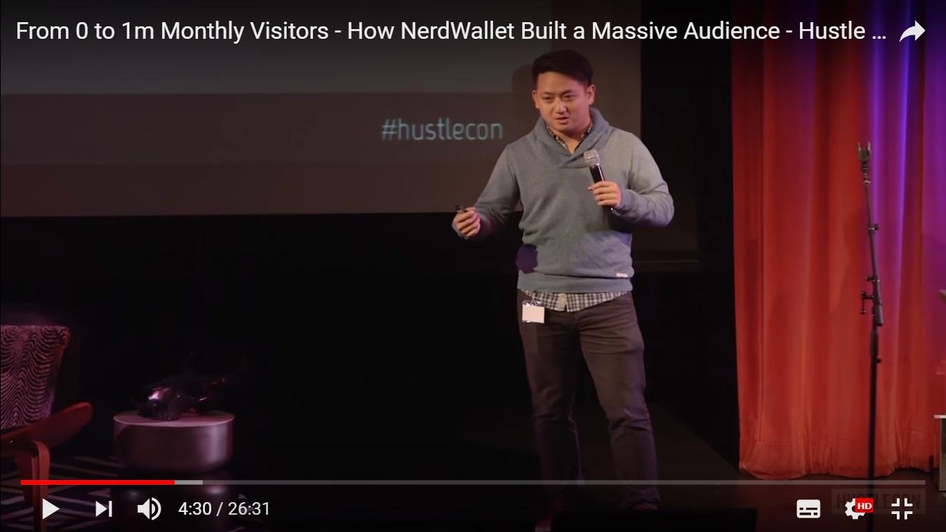 今天,陳蒂姆(Tim Chen)是個人金融網站NerdWallet的CEO和共同創始人。該公司每個月有1000萬訪問者,價值逾5億美元。(視像擷圖)