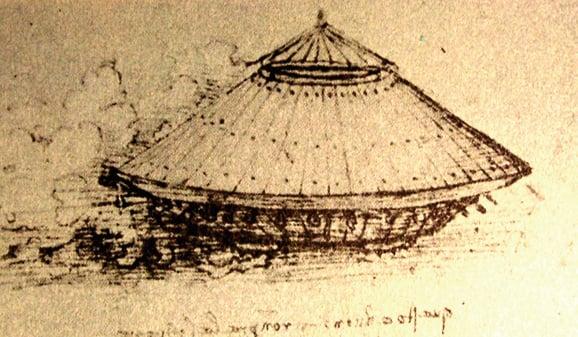 達芬奇手稿中的坦克。(公有領域)