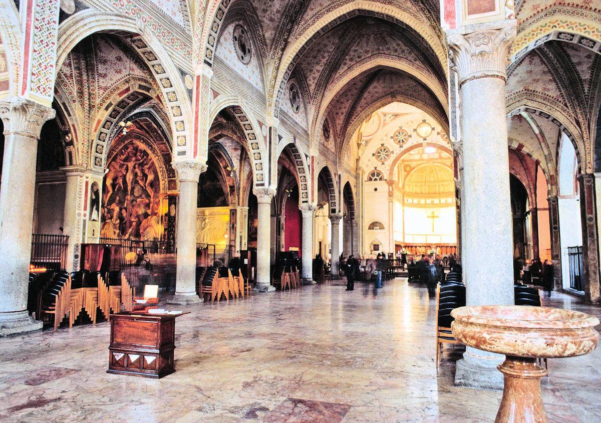意大利米蘭的天主教建築「恩寵聖母」內景。(Wikimedia Commons)