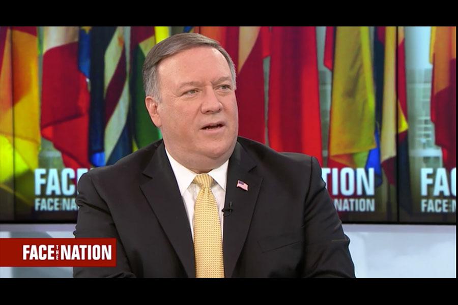美國國務卿蓬佩奧周日(5月13日)表示,如果北韓同意徹底拆除其核武器計劃,華盛頓將同意解除對北韓的製裁,北韓會有繁榮的未來。國安顧問博爾頓當日也表達了類似觀點。(視像擷圖)