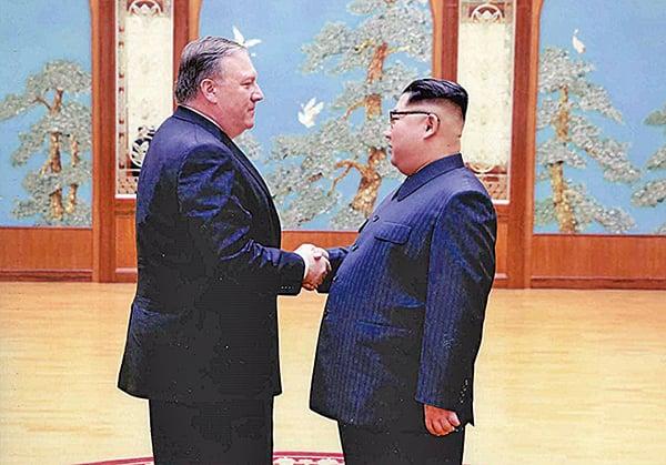 蓬佩奧稱早前前往北韓與北韓領導人金正恩會面是為「特金會」鋪路。(Getty Images)