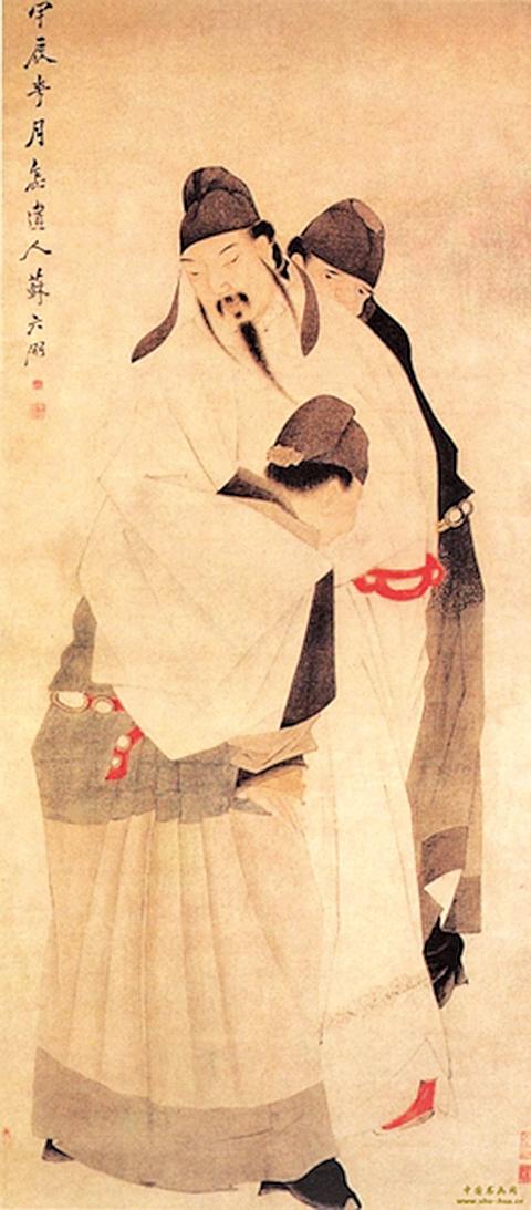清殿藏本李白畫像(公有領域)