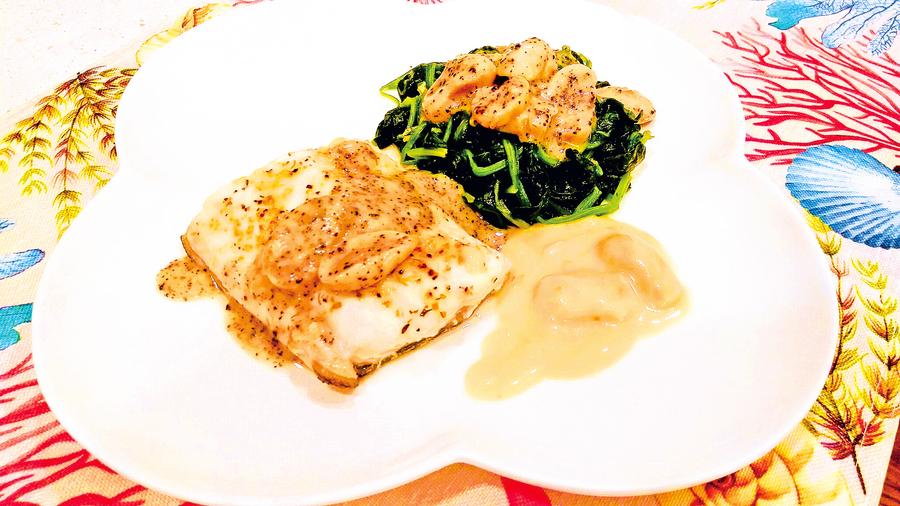 【梁廚美食】香煎鱈魚柳配黑松露蘑菇汁