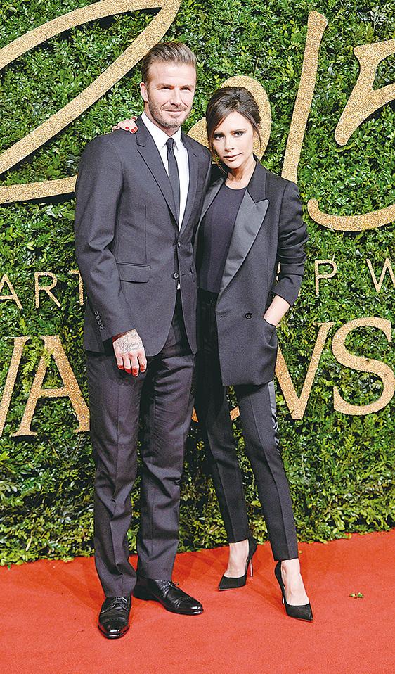 大衛.碧咸(David Beckham)與妻子維多利亞(Victoria Beckham)。(大紀元資料室)