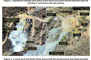 金正恩拆除北韓核試場部份建築