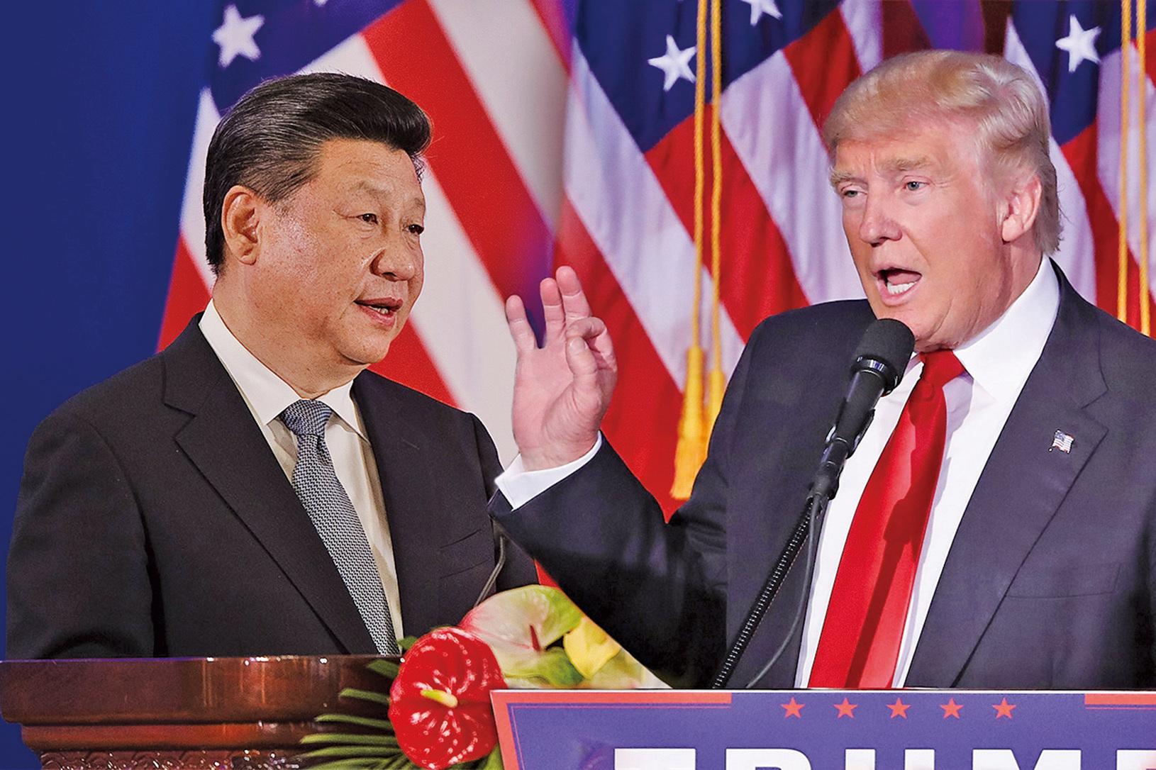 中美貿易衝突出現轉機,美國總統特朗普(右)表示將給中興通訊一條活路、中美貿易衝突將獲解決;中方則宣佈習近平(左)派特使劉鶴訪美。(大紀元合成圖)