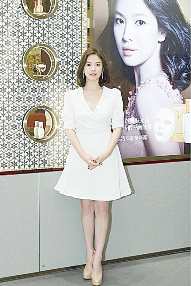 宋慧喬到上海出席護膚品牌代言的宣傳活動及發佈會。(網絡圖片)