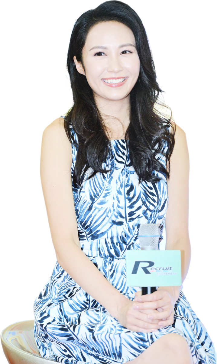 湯怡出席招聘增值展活動,分享她演藝事業的心得。(宋碧龍/大紀元)