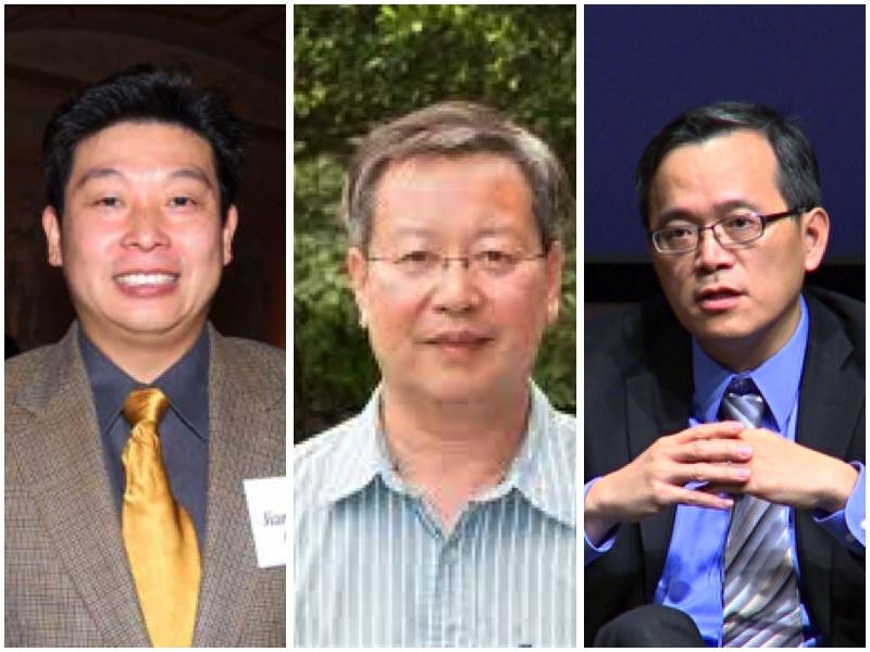 從左至右專家:楊建利、夏業良、俞偉雄。(大紀元合成圖)