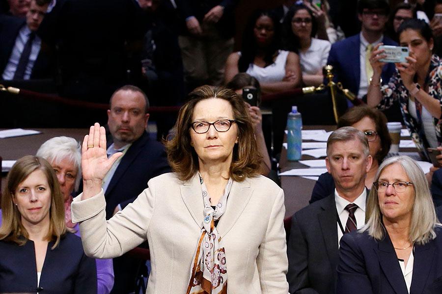 5月17日,美國中央情報局局長提名人哈斯佩爾(Gina Haspel)獲得參議院投票通過,成為首位領導該機構的女局長。(ALEX BRANDON/AFP/Getty Images)