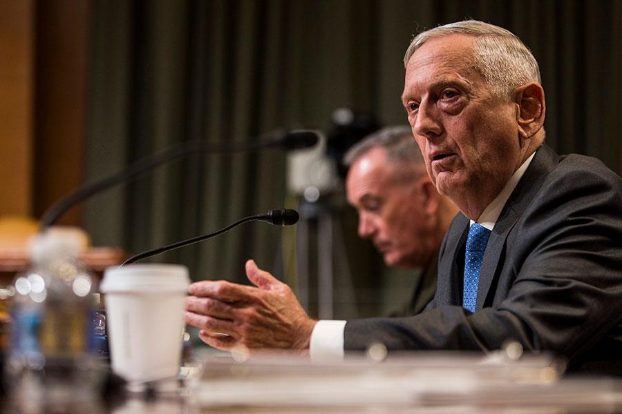 美國國防部長馬蒂斯表示,近期完成的美國國防戰略,十年來首次,將會被用於特朗普政府的軍隊改良。新戰略承認,中俄為美國的主要威脅,而不是恐怖組織。(Zach Gibson/Getty Images)