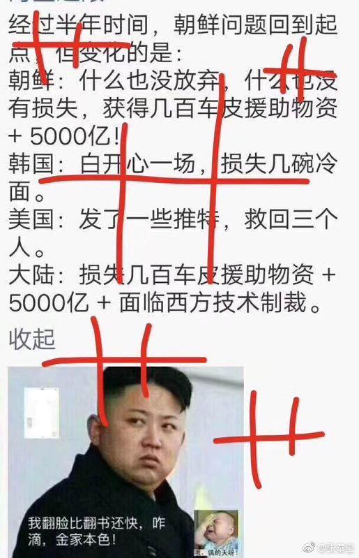 關於北韓的一張內涵圖在網路上流傳。(網頁擷圖)