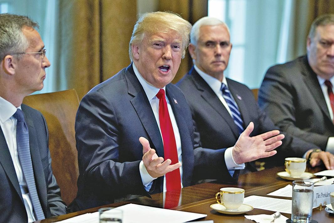 美國總統特朗普5月21日敦促北京要持續「加強及收緊」中國和北韓邊界。(Getty Images)