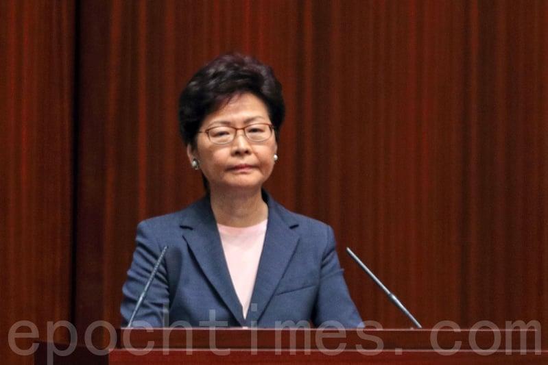 林鄭月娥拒絕譴責北京公安的暴力行為,僅指特區政府非常關心、關注香港記者在大陸採訪被阻撓的事,會跟進事件。(李逸/大紀元)