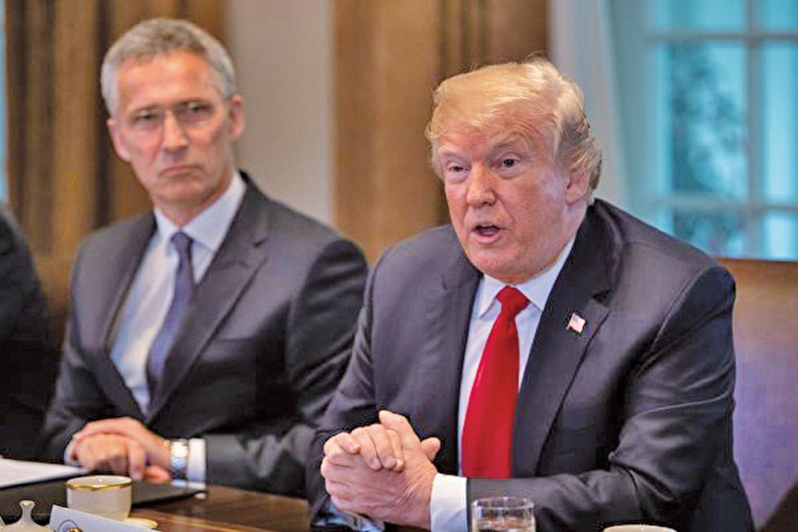 美國總統特朗普周二在白宮表示,並未就中興事宜達成任何協議。(Getty Images)