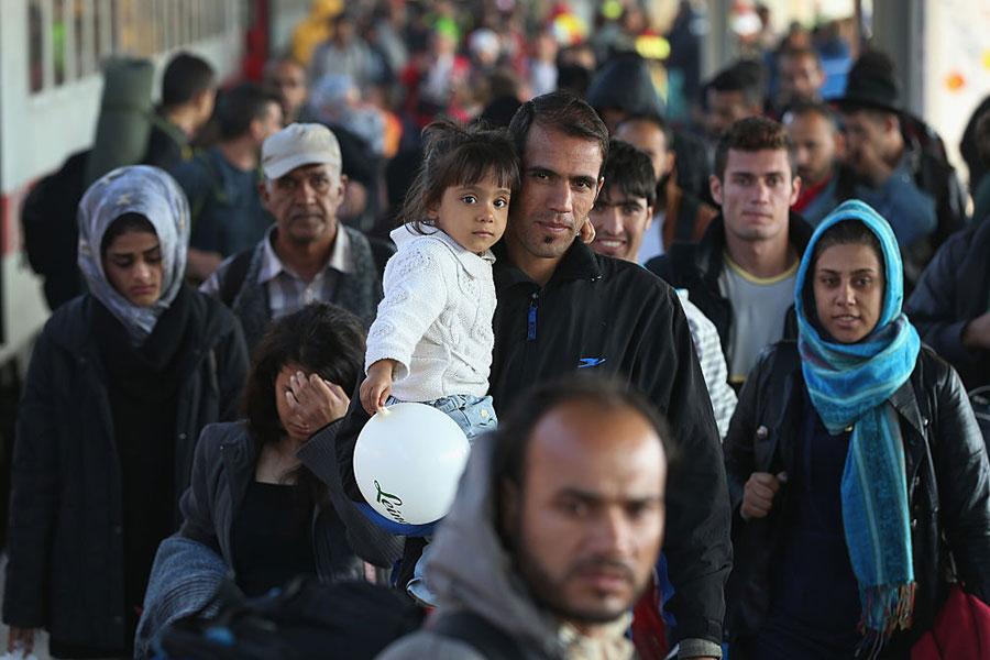 德國財政部最近公佈了難民預算,今後四年,德國納稅人為難民問題要支付780億歐元。(Sean Gallup/Getty Images)