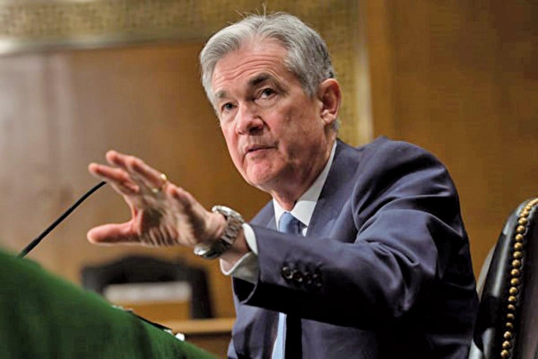 美國新任主席鮑爾(Jerome Powell)表示,美國經濟通脹溫和。(AFP)