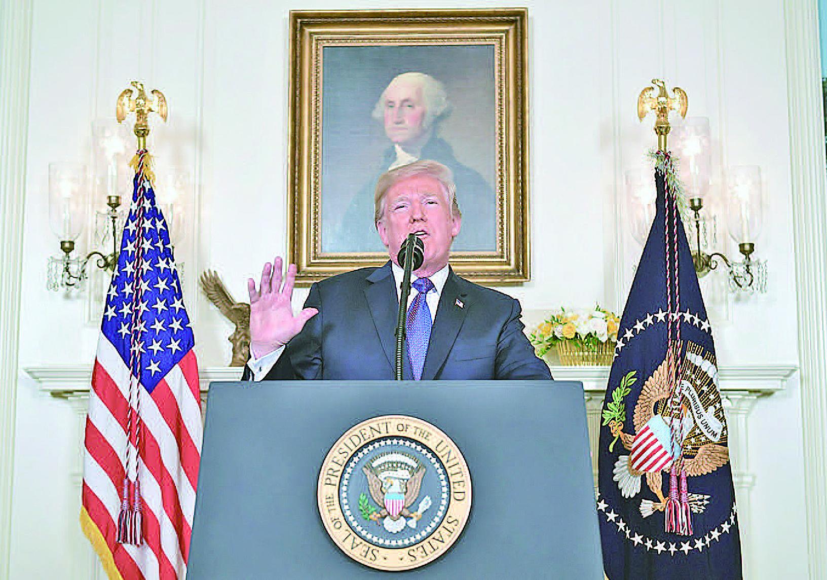 特朗普總統表示,很快就會知道特金會是否如期舉行,並說朝鮮半島和平比諾貝爾獎更重要。(Getty Images)