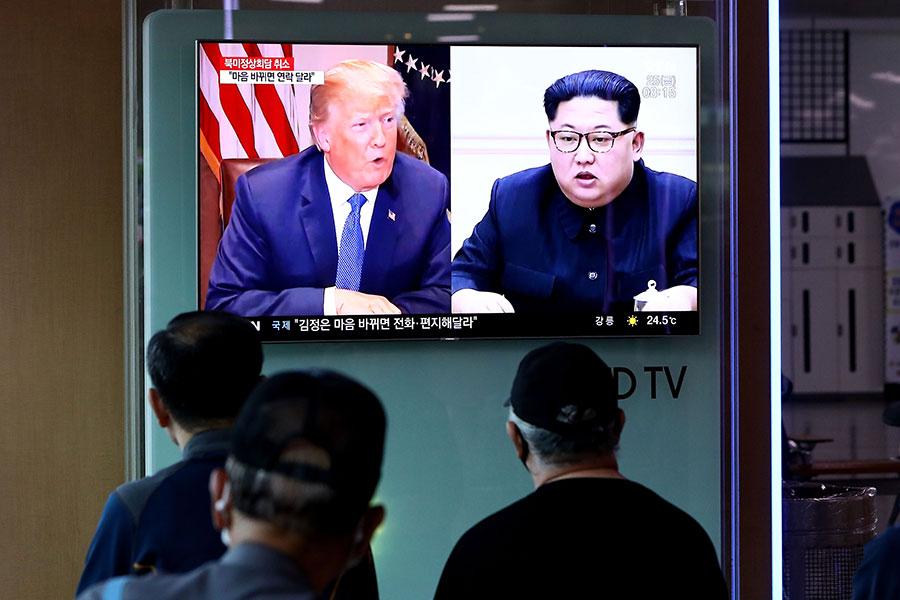 美國時間5月25日上午,美國總統特朗普發推文宣佈取消特金會。(Chung Sung-Jun/Getty Images)
