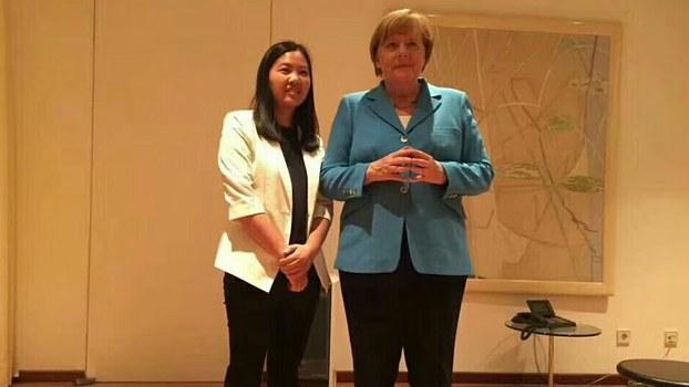 德國總理默克爾會見余文生妻子許豔