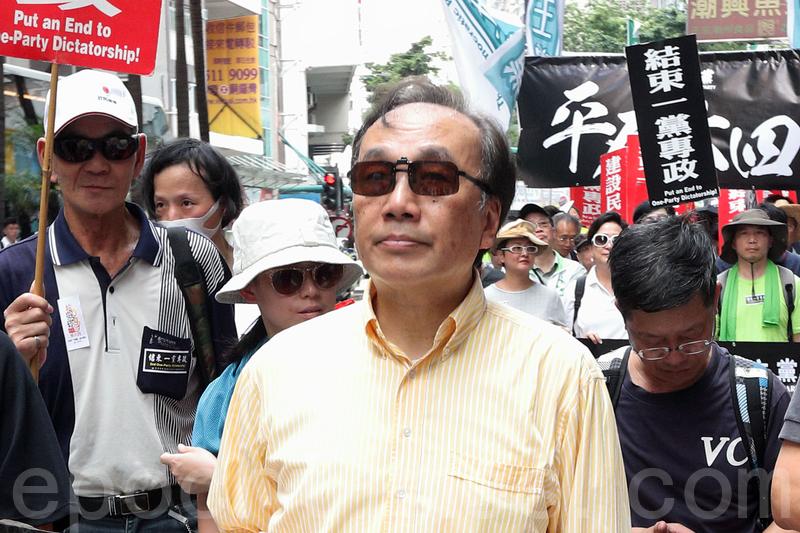 公民黨主席梁家傑指香港是中國的地方中,唯一可以悼念六四、追究屠城責任的地方,具有象徵意義的。(李逸/大紀元)